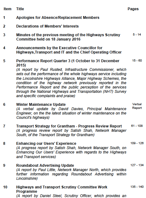 Lincolnshire Highways Scrutiny Committee to review Grantham Transport Strategy