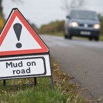 Mud on roads
