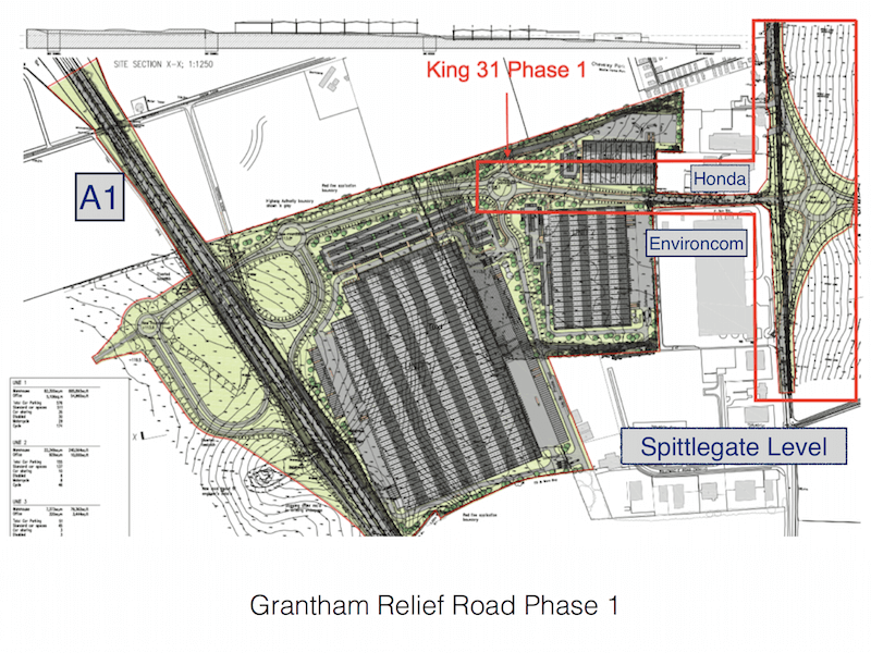 Grantham Relief Road Phase 1 Underway
