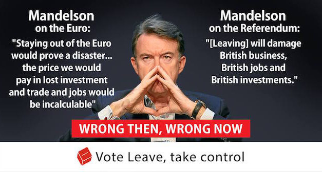Lord Mandelson was wrong about the Euro and now he's wrong about the EU