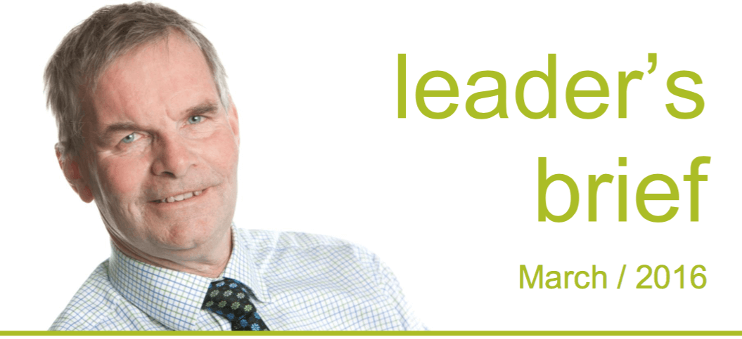 Leader's Brief – March 2016