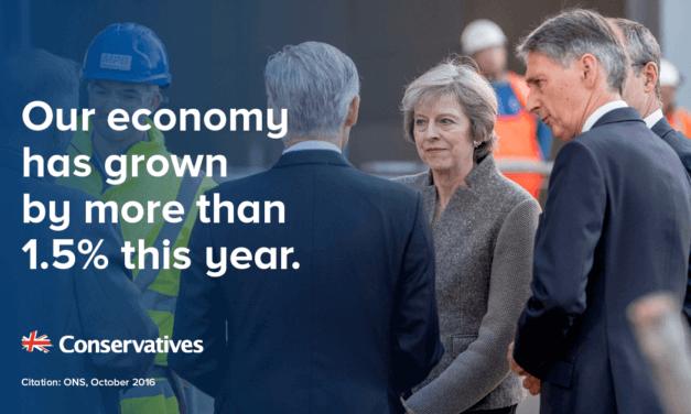 British economy grew by 0.5%